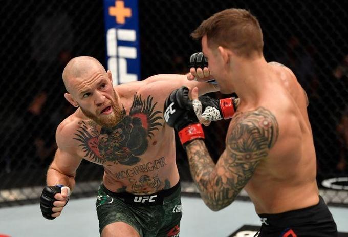 McGregor thua knock-out ở hiệp hai trận gặp Poirier hôm 25/1. Ảnh: Reuters.
