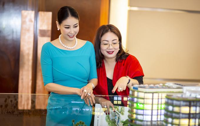Hoa hậu Hà Kiều Anh quan tâm đến dự án.