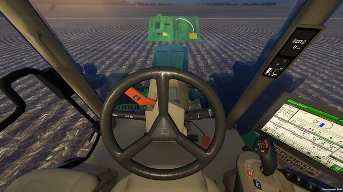 John Deere muốn trình diễn hệ thống máy móc của mình thông qua thực tế ảo. Ảnh: John Deere
