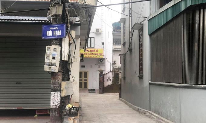 Khu vực nhà riêng của bệnh nhân 1553 tại Hạ Long, sáng 28/1. Ảnh: Nguyễn Công.