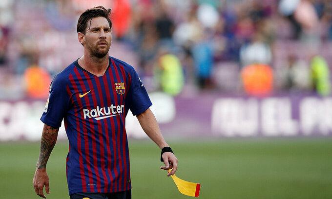 Messi là nguyên nhân giúp Barca kiếm gói tài trợ kỷ lục với Nike. Ảnh: Reuters